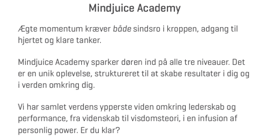 Mindjuice Academy Udd